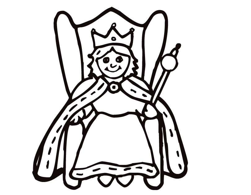 coloring pages of a queen