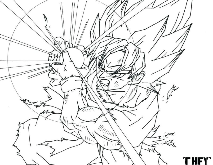 coloring pages of dragon ball super