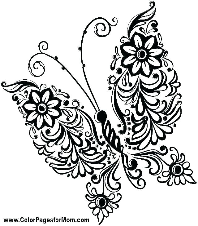 coloring pages of flowers and butterflies ameliakate