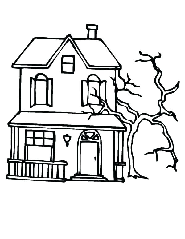 coloring pages of haunted houses online grantspower