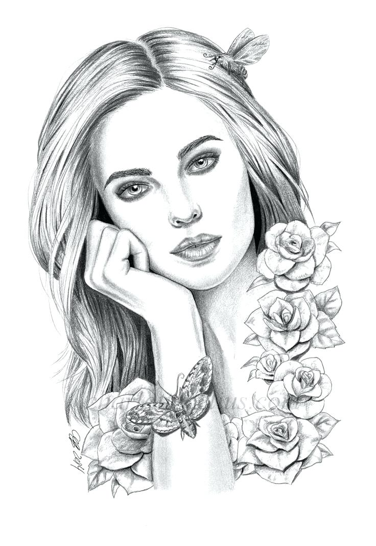 coloring pages of people realistic