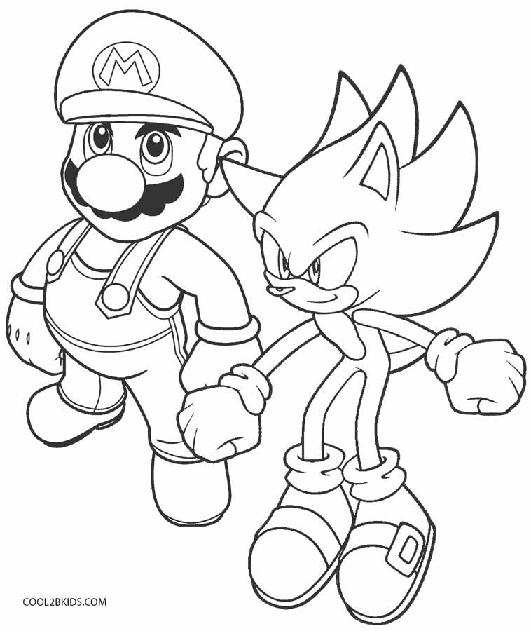 coloring pages of sonic
