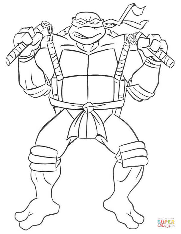 coloring pages of teenage mutant ninja turtles