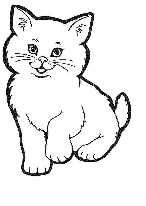 coloring pages printable cats meowing kitten coloring page