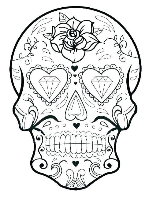 coloring pages skull sugar skull coloring pages free skull