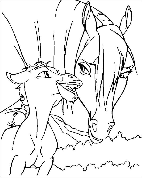 coloring pages spirit the wild horse picture 4