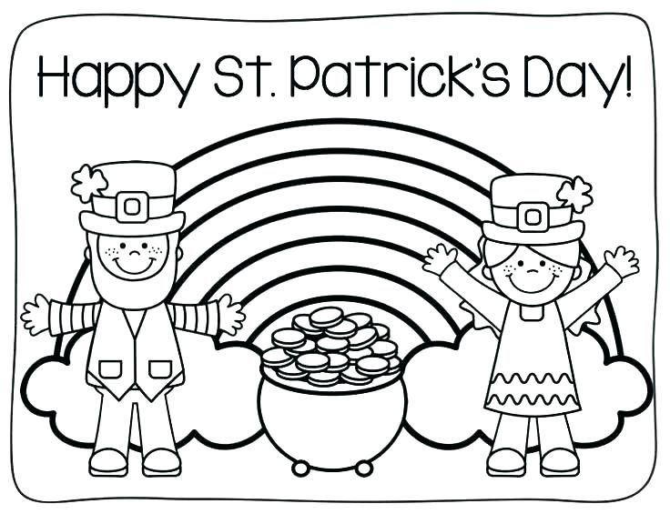 St Patricks Coloring Pages Picture Whitesbelfast