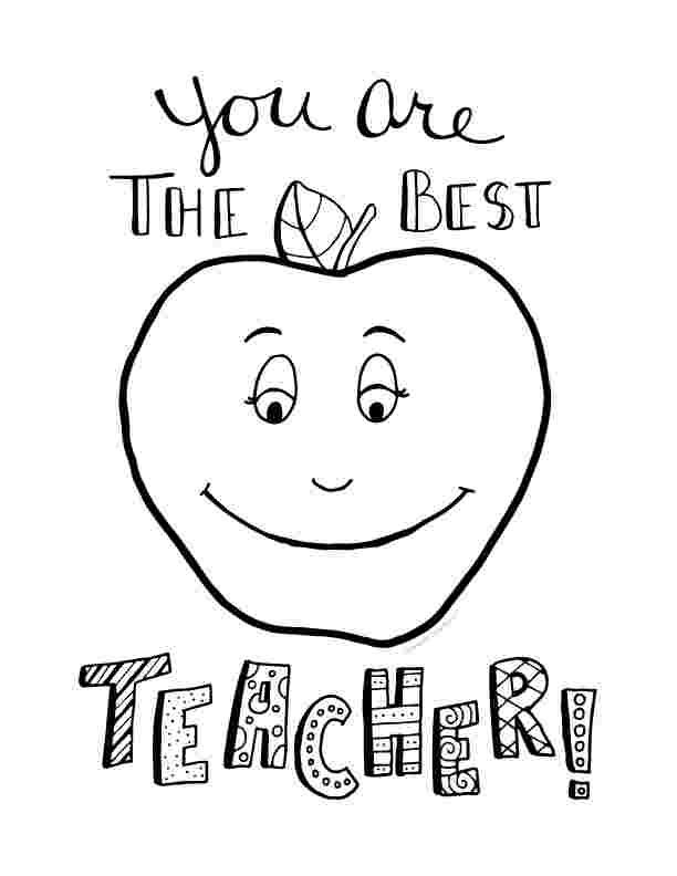 coloring pages teacher appreciation best teacher coloring