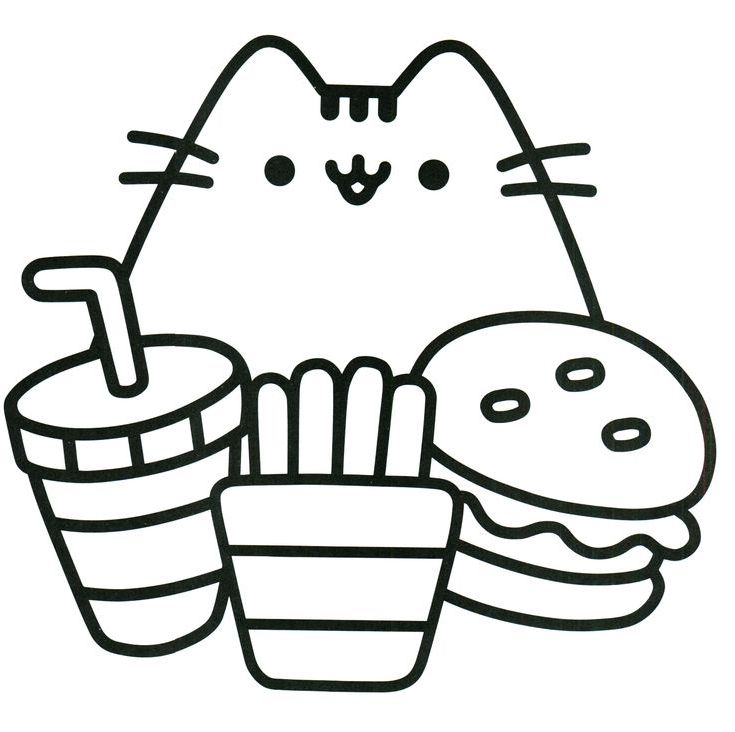 coloring pic pusheen coloring pages cute coloring pages