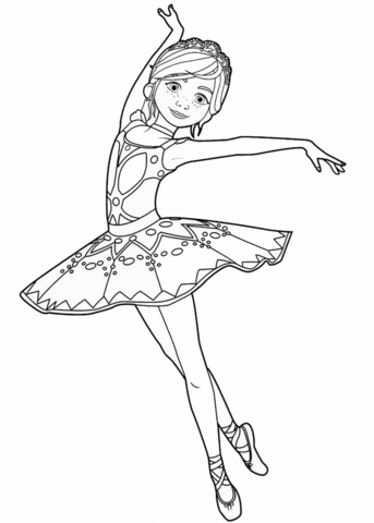 colouring pages ballerina pusat hobi
