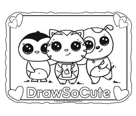 colouring pages draw so cute pusat hobi