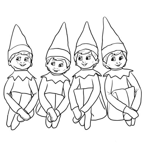 colouring pages elf on the shelf pusat hobi