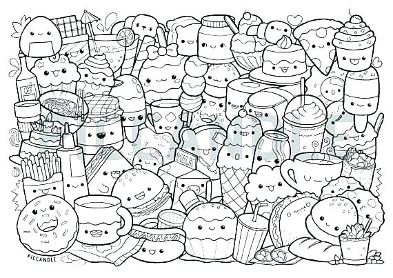 colouring pages food pusat hobi