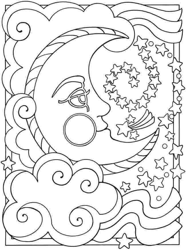 colouring pages for sun moon and stars huangfei