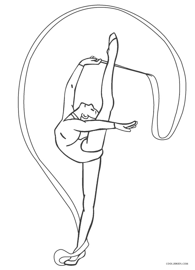colouring pages gymnastics pusat hobi