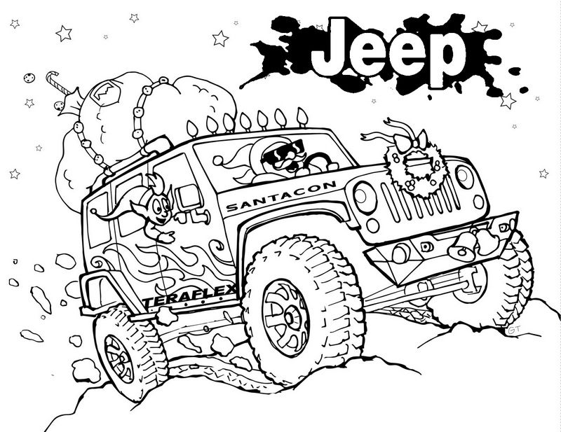 colouring pages jeep pusat hobi