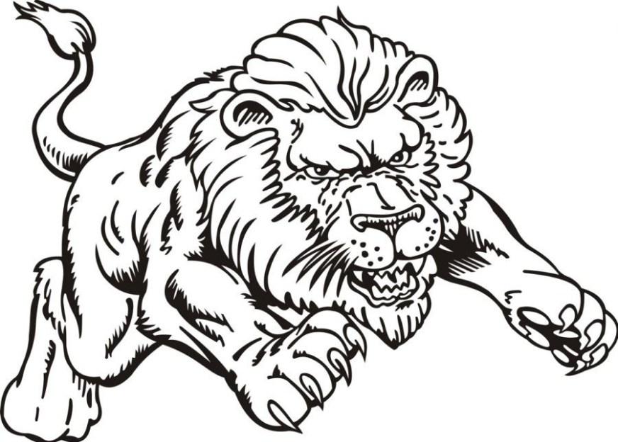 colouring pages lion pusat hobi