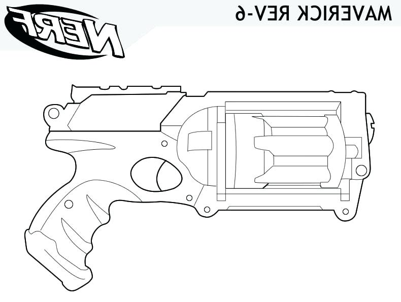 colouring pages nerf gun pusat hobi