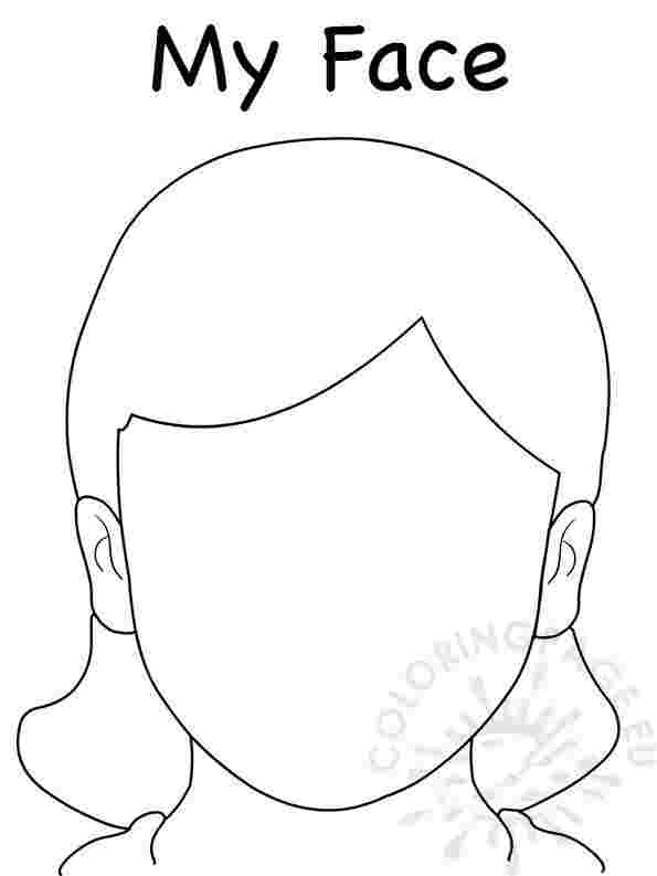 colouring pages of girl face coloring pages of little girls