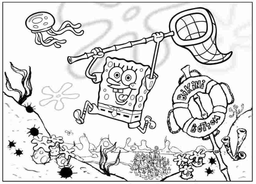 colouring pages of spongebob coloring pages from spongebob