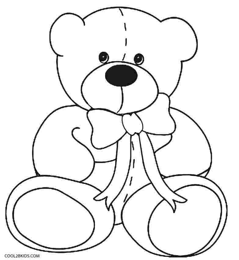 colouring pages of teddy bears free printable teddy bear