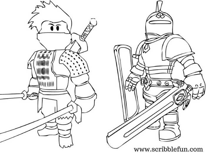 colouring pages roblox pusat hobi