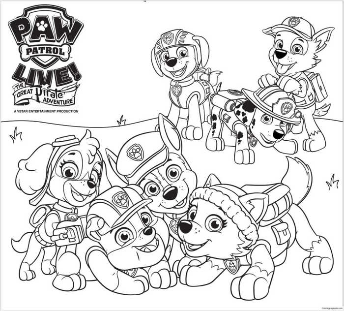 colouring pages to print paw patrol pusat hobi