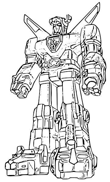 colouring pages voltron pusat hobi
