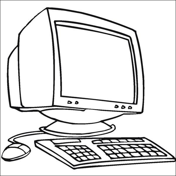 computer coloring page elegant images puter coloring pages
