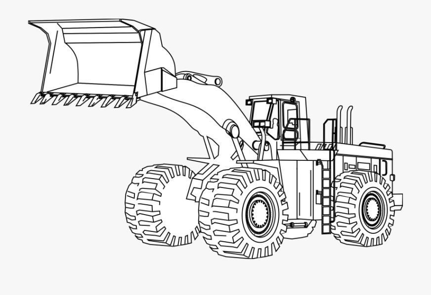 construction machine coloring pages transparent cartoon