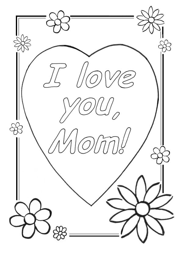 cool coloring sheets love you mom coloring pages cool
