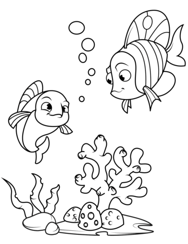 coral fish coloring page free printable coloring pages