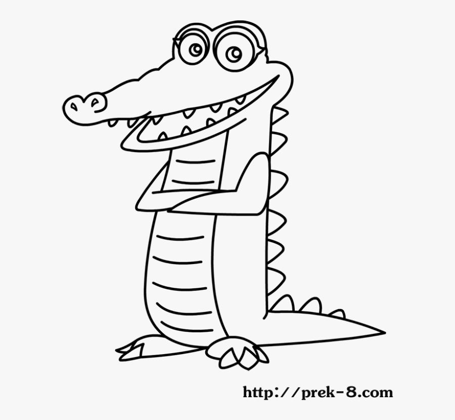 crocodile animal coloring page cute wild animals coloring