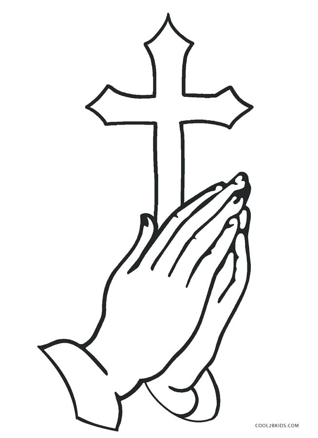 cross coloring pages to print