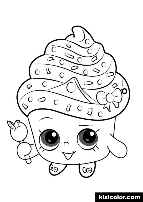 cupcake queen from shopkins kizi free coloring pages