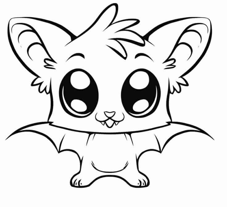 cute animal bat coloring pages scribblefun