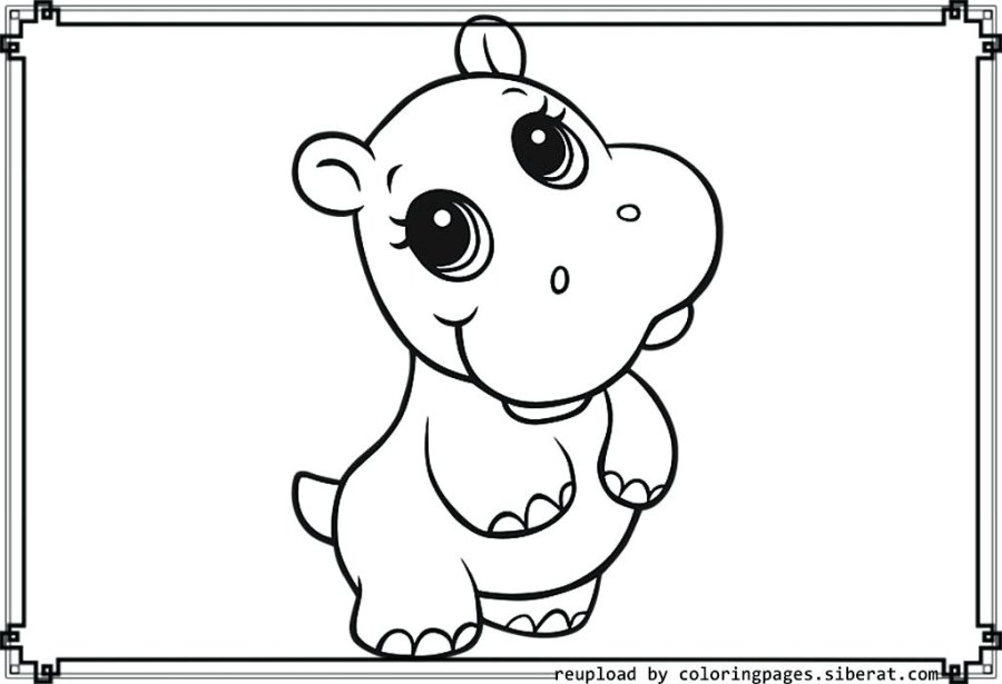 cute ba animal coloring pages dragoart to print fun for kids
