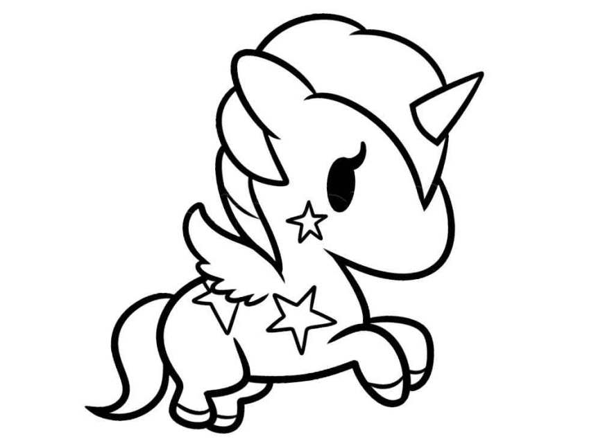 cute ba unicorn coloring pages printable free ecolorings