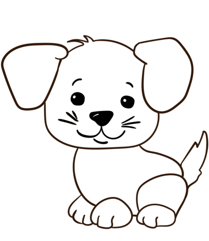 cute cartoon puppy coloring page free printable coloring pages