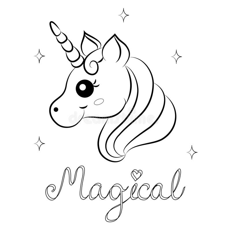 cute cartoon unicorn coloring pages
