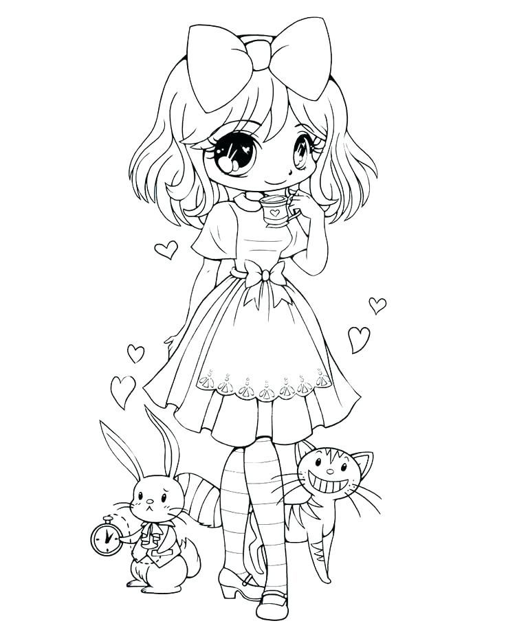 cute chibi coloring pages page kids printable inside for