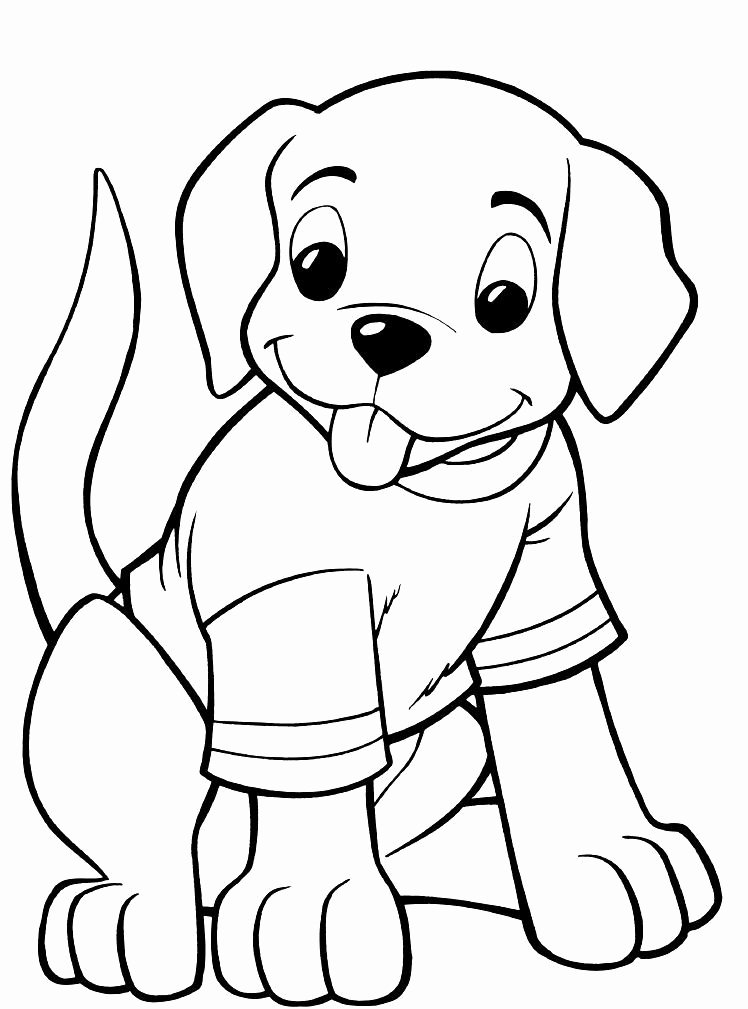 cute dog coloring page lovely cute puppy coloring pages