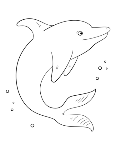 cute dolphin coloring page free printable coloring pages