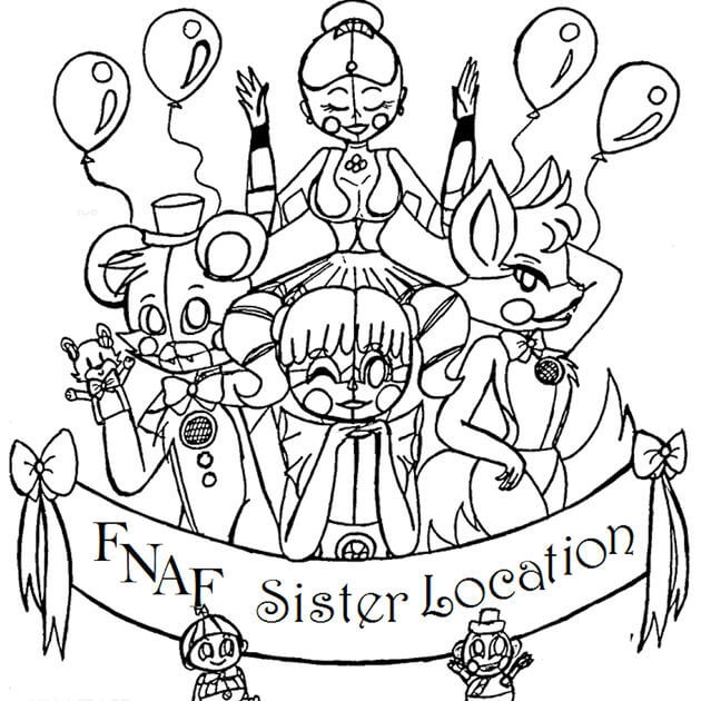 cute fnaf coloring pages free fun for kids