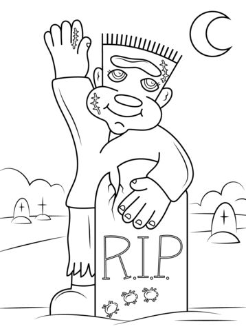 cute frankenstein coloring page free printable coloring pages