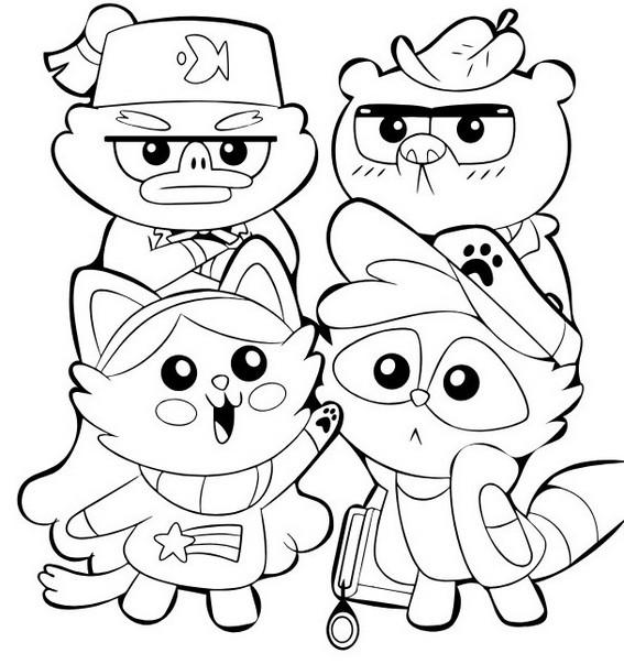 cute kawaii gravity falls coloring page for kids fun for kids