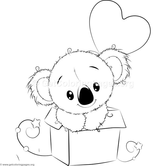 cute koala 7 coloring pages cute coloring pages bear