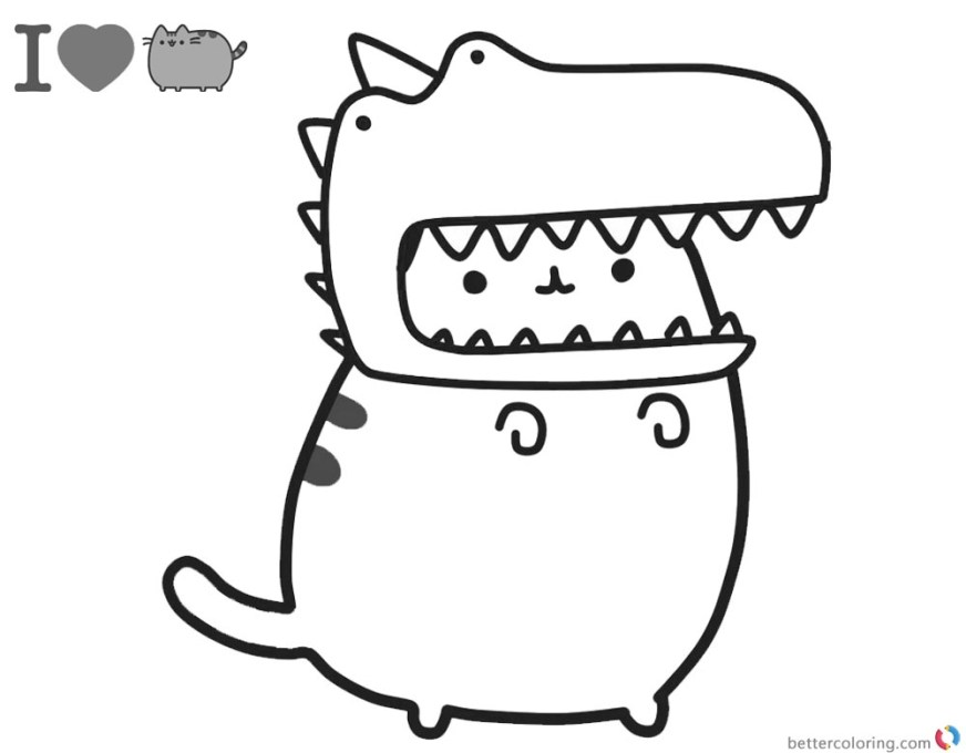 cute pusheen coloring pages printable pusheen the cat