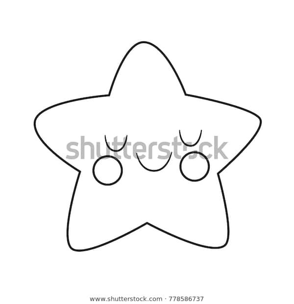cute star drawing coloring pages kids stock vektorgrafik