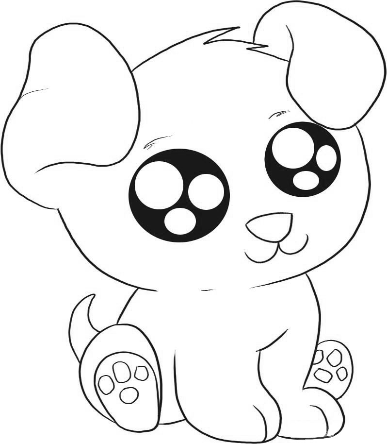 cutest puppy coloring pages